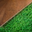 Green lush artificial grass — Stock Photo #54997209