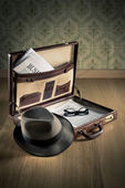 Vintage businessman briefcase — Stock Photo