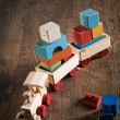 Vintage wooden toy train — Stock Photo #55011949