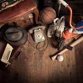 Group of assorted vintage items — Stock Photo