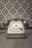 灰色的老式电话 — 图库照片