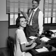 Director and secretary working together — Stock Photo #56596319