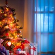 Home interior Christmas tree — Stock Photo #56607839