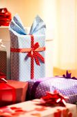 Nicely  wrapped gifts — Stock Photo
