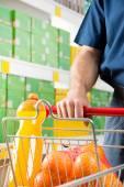 Man shopping at supermarket — Stock Photo