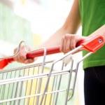 Woman shopping at supermarket — Stock Photo #56624283