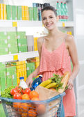 Woman shopping at supermarket. — Stock Photo