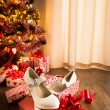 Female shoes in gift box — Stock Photo #58993713