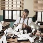 Accountant with adding machine — Stock Photo #59029859