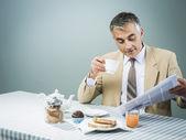 Business having nutrient breakfast — Stock Photo