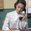 Vintage secretary on phone — Stock Photo #70640581