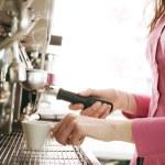 Barista making coffee — Stock Photo #70651611