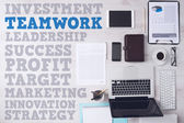 Concepts de texte bureau et stratégie d'affaires — Photo
