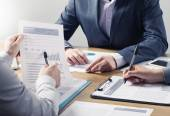 Financial services professional team — Stock Photo
