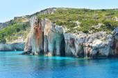 Blue caves on Zakynthos island — Stock Photo