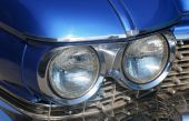 Retro car front lights — Stock Photo