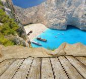 Empty table on Zakynthos island — Stock Photo