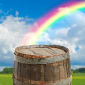 Empty barrel for product — Stock Photo