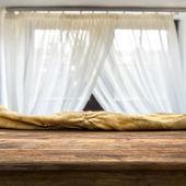 Empty table near the window — Foto de Stock