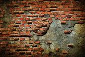 Gamla skadade grunge vägg — Stockfoto