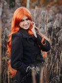 Red haired caucasian girl — Stok fotoğraf