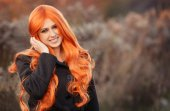 Red haired caucasian girl — Стоковое фото