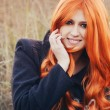 Red haired caucasian girl — Stock Photo #63710195