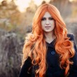 Red haired caucasian girl — Stock Photo #63710805