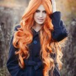 Red haired caucasian girl — Stock Photo #63710949