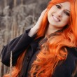 Red haired caucasian girl — Stock Photo #63711035