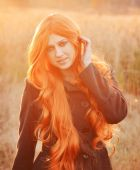 Red haired caucasian girl — Photo