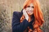 Red haired caucasian girl — Stock Photo
