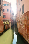 Historical old canal in Venice — Stock Photo