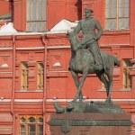 Marshal Zhukov monument — Stock Photo #66786089