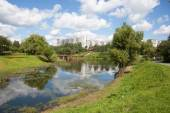 Chermyanka river in Moscow — Stock Photo