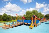 Playground in Heritage Village Park — Stock Photo