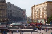 Manezh Square and Tverskaya Street — Stock Photo