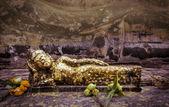 Reclining buddha statue in Ayutthaya, Thailand  — Photo