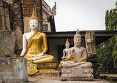 Estatuas de buda en wat phu khao thong en ayutthaya. tailandia. — Foto de Stock