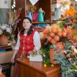 Woman selling flowers at the market of Funchal, Madeira Island — Stock Photo #55783901