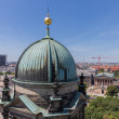 Aerial view from Berliner Dom over the centre of the city Berlin — Stock Photo #56435085