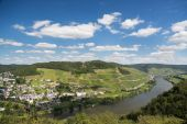 Landscape with the river Moselle in Germany — Stock Photo