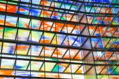 Interior modern building with colorful glass wall — Stok fotoğraf