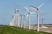 Construction of a windfarm along the Dutch coast — Stock Photo