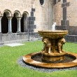 Fountain at courtyard medieval benedictine Abbey in Maria Laach, Germany — Stock Photo #72396345
