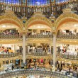 People shopping in luxury Lafayette galeries of Paris, France — Stock Photo #74788385