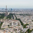 View of Paris with Eiffel Tower from Montparnasse building — Stock Photo #77667228