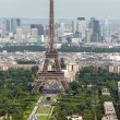 View of Paris with Eiffel Tower from Montparnasse building — Stock Photo #77667576