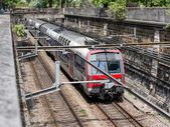 Subway train Paris, France — Stock Photo