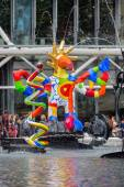 Fountain near Centre Pompidou with modern art in Paris — Stock Photo